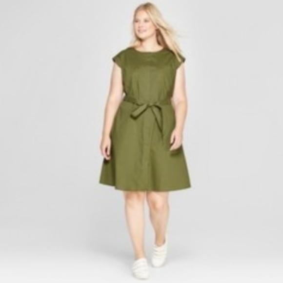 Ava & Viv Dresses | Ava Viv Plus Size Army Green Dress | Poshmark